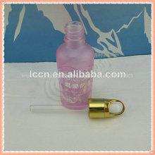 El diseño único de cosméticos botella de vidrio, la pantalla de impresión de botella y con cuentagotas