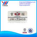 logo de aluminio placa de identificación, placas de identificación de aluminio anodizado