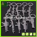 venta al por mayor cool personalizada encanto de regalo mini juguete de la pistola de metal llaveros