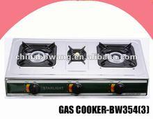 Mesa 3 quemador de gas de acero inoxidable cocina ( bw354 - 3 )
