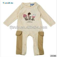 De manga larga ropa de bebé 80% algodón y 20% de poli