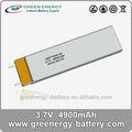 Gep7545135 4900 3.7v mah recargable li- polímero de la batería