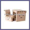 fácil de cartón plegable niño mesa de estudio y una silla para dkpf20130719z