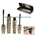 Nuevo Diseño Magia Lashes Leopard fibra de maquillaje del cepillo del rimel de los ojos Negro Largo 6258