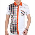 de la marca 2014 formal de los hombres de moda del diseñador de camisetas para hombres