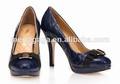 Mejor estilo de zapatos exclusivos 2014 damas genuien alta calidad zapatos de cuero para la mujer