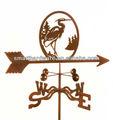 Acero heron weathervane/veleta de metal