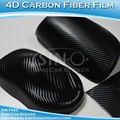 4D cine coche que envuelve la fibra de carbono negro
