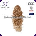 venta al por mayor 2014 largo y rizado del pelo de oro barato extensiones de cola de caballo