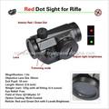 visor de punto rojo para el rifle y la mano de la pistola