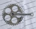 rueda de cadena y manivela de un solo uso de la bicicleta velocidad