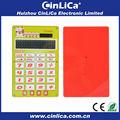 Calcualtor transparente con el color brillante/16 dígitos calculadora electrónica con la energía solar