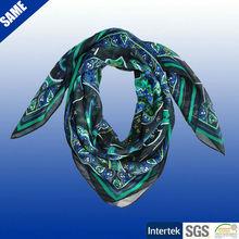 de poliéster estampado paisley foulard de cuello cuadrado bufandas