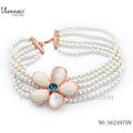 flor de la moda collar de perlas de diseños de la perla collar de imágenes