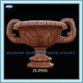sculpture sur pierre rouge pots de fleurs pour livingroom