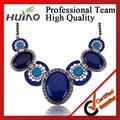 collar de cristal azul pendientes conjuntos de joyas