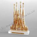 Crystal Sagrada Familia building model