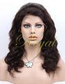 Calidad Indian Remy del pelo humano peluca de encaje completa