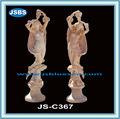 Statue de marbre, sculpture en marbre, statue nue dame
