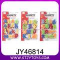 Letras y números magnéticos juguete de aprendizaje del bebé de la alta calidad de 1,5 pulgadas de colores de plástico