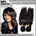 nuevo estilo profunda ola natural virgen de color, 100 % auténtica extensión cabello virgen brasileño