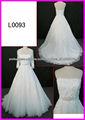 2014 Guangzhou verdadeiro fio rendas strapless vestidos de noiva uma linha / vestido de noiva com bolero / casaco e frisado faix