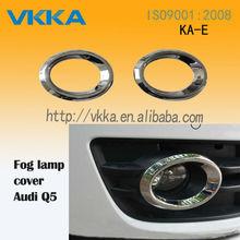 abs cromado accesorios del coche del coche fender cromado cubierta para audi q5 del coche cubierta de la placa para