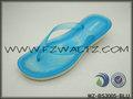 correa de la jalea del PVC suela de EVA de las mujeres flip-flop