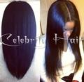 Virign peluca llena humana brasileña del cordón para las mujeres negras130density18inch yaki negro recto peluca de pelo de bebe