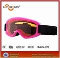 2014 marco de color rosa de color ámbar con gafas de esquí de