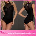 nuevo diseño de venta al por mayor de cuello alto detalle de encaje negro sexy ropa interior de mujer imágenes