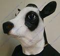 nuevo producto de hip hop de goma de disfraces de halloween máscara de lifesize chrismas máscara de vaca