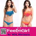 más calientes de venta al por mayor abierto borla bandeau bikini sexy girl fotos