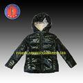Menina de novo estilo de inverno com capuz brilhante quente e impermeável belo exterior jaqueta de inverno( api 3863 f1)