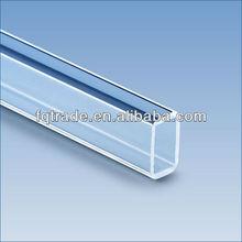 forma cuadrada tubo de cuarzo claro