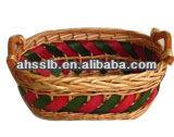 bandeja redonda de mimbre cesta