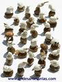 Esculturas de animales talladas a mano en nuez de tagua, o marfil vegetal, venta al por mayor de arte ecuatoriano