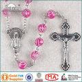 Rosario Plástico Saint cuentas rojas cadena de rosario