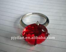 nueva moda rojo de cristal de diamante de cristal anillo de servilleta