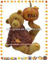 jugando de resina oso inflable al aire libre decoraciones de acción de gracias
