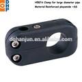 H587a abrazadera para tubería de gran diámetro/abrazaderas de plástico para tuberías/ronda abrazaderas de tuberías