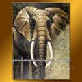 100% elefante hecho a mano de pintura al óleo