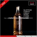 de lujo 700ml cilindro de cristal de la botella de vodka con la tapa de corcho