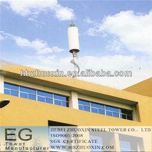octogonal de telecomunicaciones gsm de acero de la torre de telecomunicaciones del poste