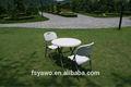 De plástico blanco de silla de jardín plegable ya-t025