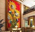 textura pesada flor abstracta pintura al óleo