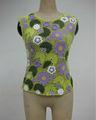 crochet de algodón ropa externa superior sin mangas de las señoras