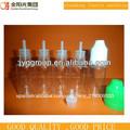 15ml claro pet frasco gotero de plástico niño con tapa a prueba para el ego de aceite, e- líquido