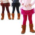 falda del tutú falda de las muchachas legging por 3-12 años de muchacha