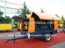 diesel móvil del compresor de aire utilizado para la cantera